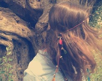 Gypsy hair jewelry, bohemian hair jewelry, hippie hair jewelry, gypsy headband, boho headband, hippie headband, fringe hair jewelry, summer