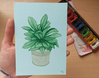 A6 Painted plant print