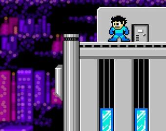 Mega Man 2 City Poster
