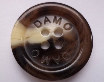 8 buttons dark brown brown 24mm (4047) button