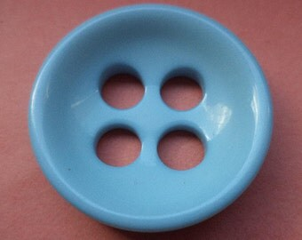6 large BUTTONS light blue 31mm (2148) Blue Coat buttons jacket buttons