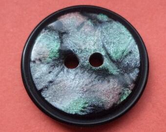 10 black buttons 21mm (5431) button