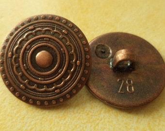 12 buttons copper 18mm (2897) button