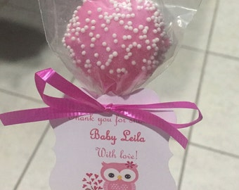 Baby Shower Cake Pops Pink Party Favor