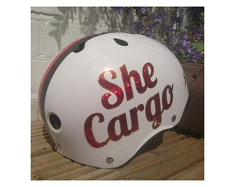 Roller Derby Helmet Sticker, 2 Colours, Made to Order, Vinyl Name Decal