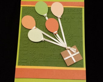 Happy Birthday Card - Balloons and Package