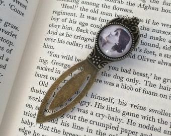 Virginia Woolf Bookmark - Gift For Reader, Book Lover, Bibliophile, Author Bookmark, Book Gift, Library Accessory, Antique Bronze or Silver