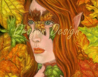 Autumn with Gold, Red, Orange, Green, Yellow Leaves