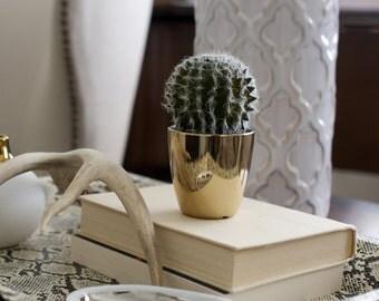 Faux Cactus Gold Pot Home Decor Wedding Decor