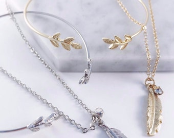 Silver/ Gold Plated Leaf Necklace