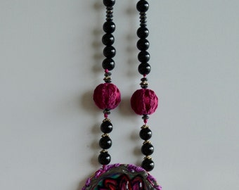 Lotus Dream beaded necklace