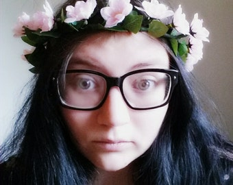 Delicate Cherry Blossom Circlet
