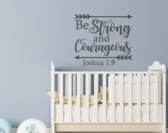 Religious Wall Decal Etsy - Bible verse nursery wall decals