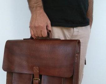 Leather handmade bag, messenger bag, crossbody bag, laptop bag, saddle bag etc.