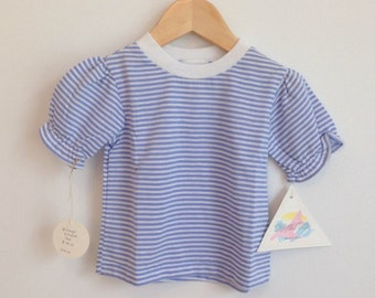 Vintage Little Striped Cotton Blend Top - 18M
