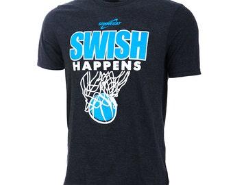 Swish Happens Short Sleeve Basketball T-shirt, Basketball Shirts, Basketball Gift - Free Shipping!