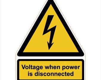Voltage when power is disconnected