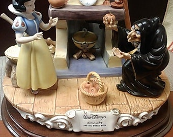"Limited edition ""Snow White and the Wicked Witch"" porcelain figurine by Laurenz Capodimonte."