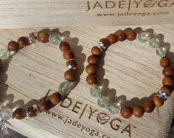 Mala bracelet silver yoga jewelry sandalwood