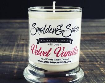 Velvet Vanilla Soy Wax Candle