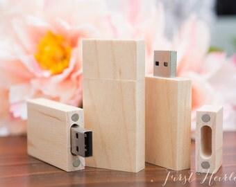 Natural wood 16gb flash drive