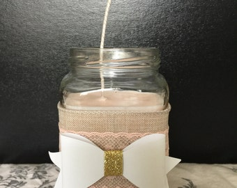 CUSTOM Soy Candles - You pick scent, color and design!