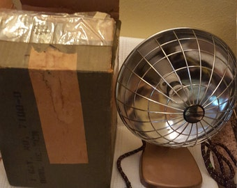 SALE! Free shipping...VINTAGE Sears Kenmore electric radiant bowl heater with original tags and box