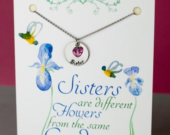 Sister Necklace - Sisterhood Necklace - Swarovski Heart Element - Gift for Sister - Ready to Gift  - Sister Gift