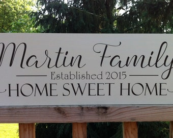 Gift for newlyweds-Wedding Wooden Signs-Name Sign Wood-Home Sweet Home Personalized Sign-Christmas Gift ideas-new home Housewarming Gift