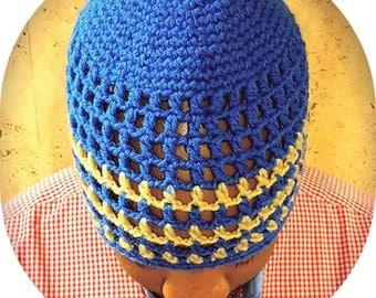 Made To Order Crochet Men's Beanie, Men's Summer Beanie, Men's Kufi, Men's Hat