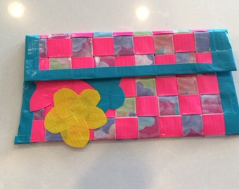 Duct Tape Flower Clutch