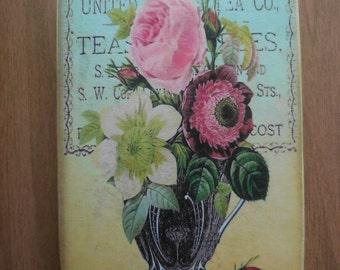 Cutting Board decoupage.Kitchen decor, decoupage, cutting Board,housewarming gift.