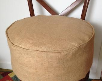 Rustic Hessian/Burlap Floor Cushion