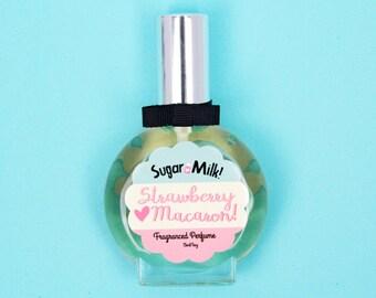 Strawberry Macaron Perfume/ Perfume Oil/ Body Mist/ Strawberry Perfume/ Macaroon Perfume/ Cookie Perfume/ Natural Perfume/ Perfume Atomizer