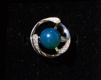 Dominican Blue Amber-The Trio Ring