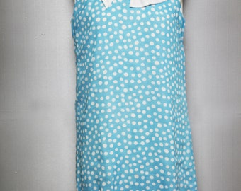 Dress blue with white polka dots