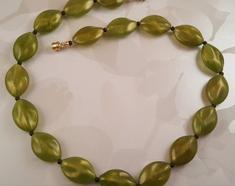 Simple Green Goddess Necklace