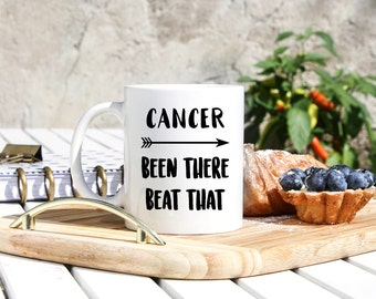 Cancer Survivor Gift - Cancer Survivor Mug - Gifts For Cancer Survivor - I Beat Cancer - Cancer Recovery Gifts - Cancer Awareness Mugs Gifts