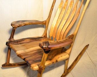 Maloof inspired rustic rocking chair (size L)