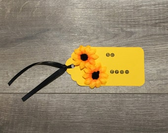 Sunflower Yellow Gift Tag