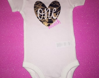One Month Onesie*PERSONALIZED*