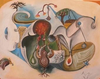 original acrylic, oil painting on canvas