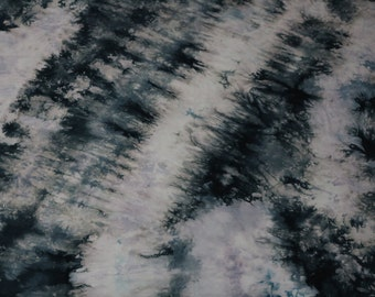 Hand Dyed Fabric, Quilt Fabric, Dyed Cotton Fabric, Blue Fabric #111