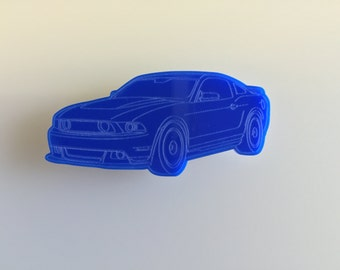 Muscle Car Fridge Magnet - Ford Mustang -  Acrylic kitchen / office magnets - Multiple Colours - Shelby