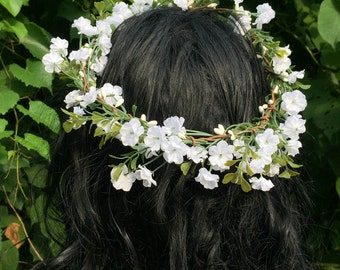 Handmade flower circlet, flower hair accessory,  flowers headband, gift for her, birthday gift, wedding, party, floral hair crown