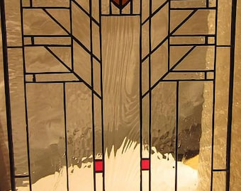 "Frank Lloyd Wright Arrow Stained Glass Window, 21"" L. X 12"" W."