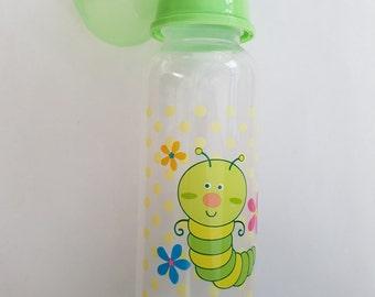 Green Caterpillar Bottle - 250ml 9oz - Adult Little