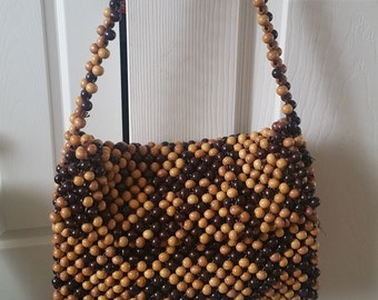 Vintage Rare Gaymode 1960s Boho Beaded Purse Made in Japan