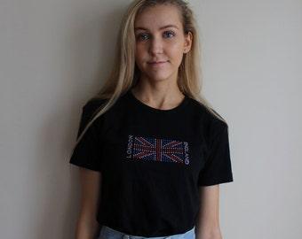 Vintage London England Rhinestone T-shirt