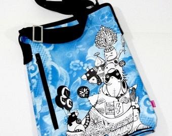 Dream Messenger Graffiti Bag Blue